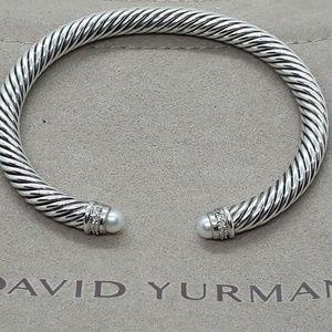 💎David Yurman bracelet with pearls and diamonds💎